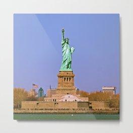 Lady Liberty, Ellis Island, NYC Metal Print