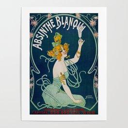 Vintage Absinthe Blanqui Ad Poster
