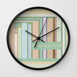 Circuit Board Blips, graphic design Wall Clock