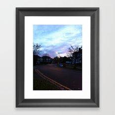 Pink&Blue Framed Art Print