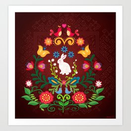 Bunny Of The Flowers Art Print