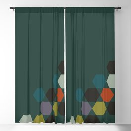 cluster || green night Blackout Curtain