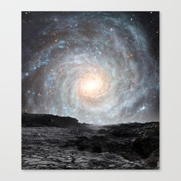 The Milky Way seen from a rogue planet. Canvas Print