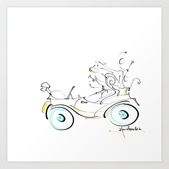 fun ride Art Print