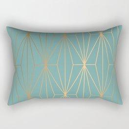 ELEGANT BLUE GOLD PATTERN Rectangular Pillow