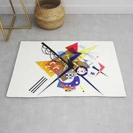 Kandinsky On White II (Auf Weiss) 1923 Artwork Reproduction, Design for Posters, Prints, Tshirts, Me Rug