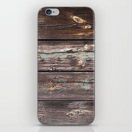 Aged Wood rustic decor iPhone Skin