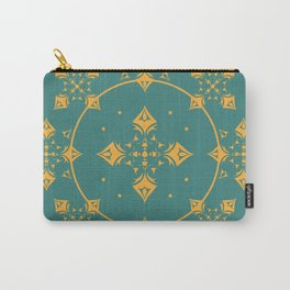 Gothic Trellis Teal Carry-All Pouch