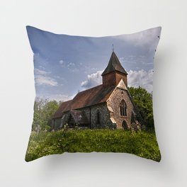 Selmeston Church Throw Pillow
