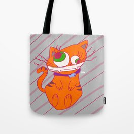 Deranged Cat Tote Bag