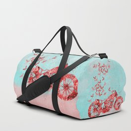 Happy Trip Motorbike Flower Power Art Duffle Bag