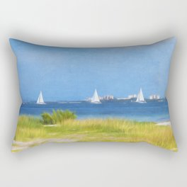 Sailing The Ocean Blue Rectangular Pillow