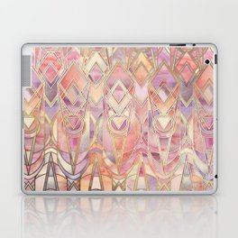 Glowing Coral and Amethyst Art Deco Pattern Laptop & iPad Skin