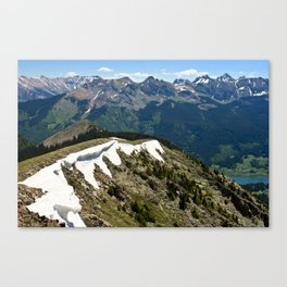 Mountain cornice with snow Canvas Print