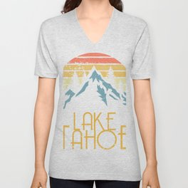 Vintage Lake Tahoe California Nevada Retro Hoodie Unisex V-Neck