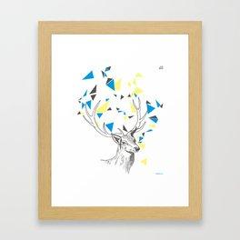 Rainbow Collection / deer Framed Art Print