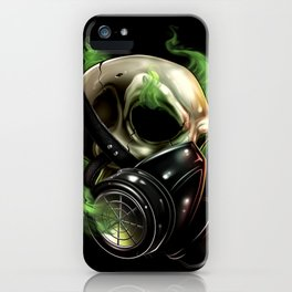 Skull/Gas mask 12 iPhone Case