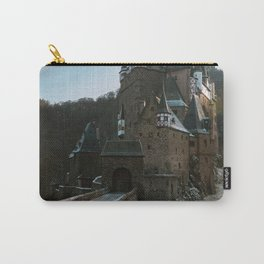 Fairytale Castle in a winter forest in Germany - Landscape and Architecture Carry-All Pouch