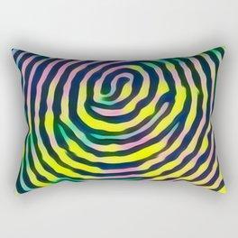 Rainbow fingerprint Rectangular Pillow