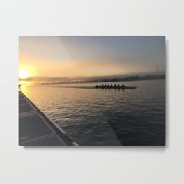 Crew Race at Sunrise Metal Print