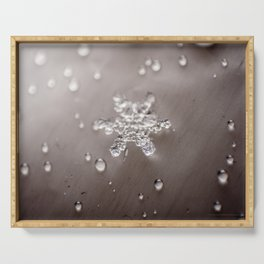 Snowflake with Droplets Serving Tray
