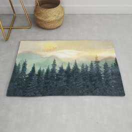 Forest Under the Sunset II Rug