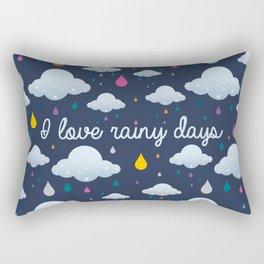 I love Rainy Days Rectangular Pillow