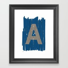Winter clothes. Letter A. Framed Art Print