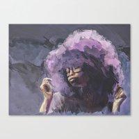 erykah badu Canvas Prints featuring Erykah Badu by ear2ear