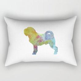 Griffon Belge in watercolor Rectangular Pillow
