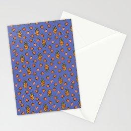 Blue fruits Stationery Cards