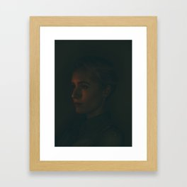 quiet portrait of a young woman Framed Art Print