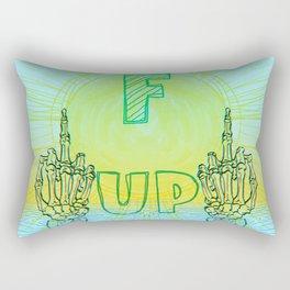 fuck up Rectangular Pillow