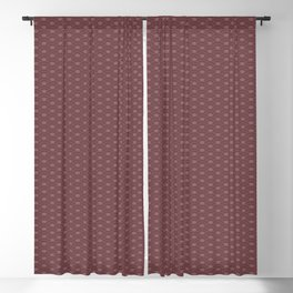 Pantone Red Pear Double Scallop Wave Pattern Blackout Curtain