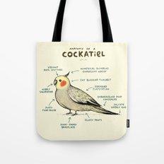 Anatomy of a Cockatiel Tote Bag
