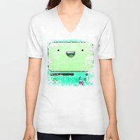 bmo V-neck T-shirts featuring BMO by Some_Designs