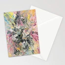Pouring colors Stationery Cards