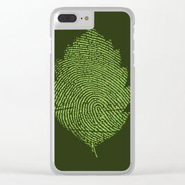Leafprint Clear iPhone Case