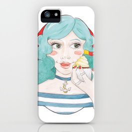 Nautical Fan Meredith Eating a Cupcake iPhone Case