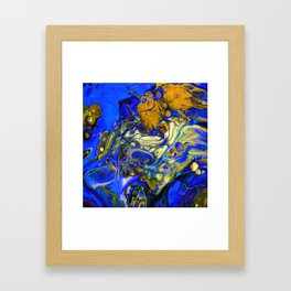 Blue Compliments You Framed Art Print