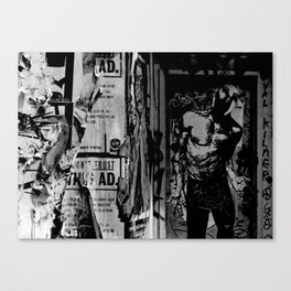 Untitled (street collage) Canvas Print