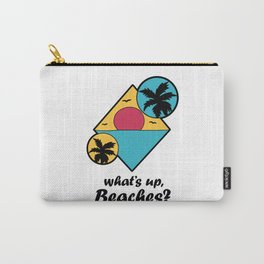 whats up beaches Holiday Vacation Sun Palm Gift Carry-All Pouch
