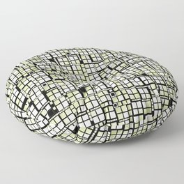 Yellow green pixels fashion Floor Pillow