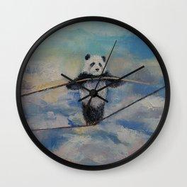 Panda Tightrope Wall Clock