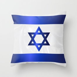 Israel Star Of David Flag Throw Pillow