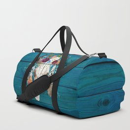 Rustic Glam Boho Chic in Teal Duffle Bag