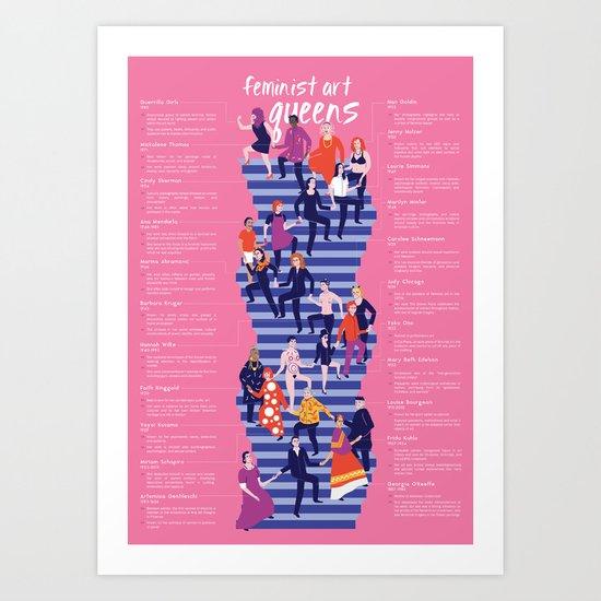 feminist art queens Art Print