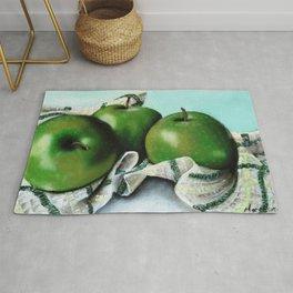Green Apple and Tea Towel II Rug