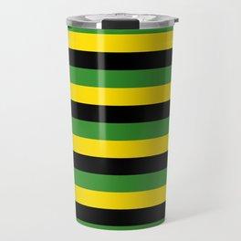 Jamaica flag stripes Travel Mug