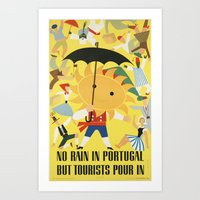 portugal Art Prints featuring Portugal by Kathead Tarot/David Rivera